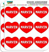 5cm (5,1cm) Scrapbooking, Aufkleber I love Herz Namen Stecker M Mac Marvin