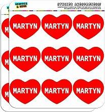 5cm (5,1cm) Scrapbooking, Aufkleber I love Herz Namen Stecker M Mac Martyn