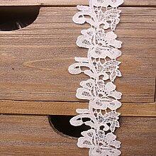 5 CM Breite Europa Die rebstöcke muster Inelastische Stickerei Spitzenbesatz, Vorhang Tischdecke Slipcover Braut Selbermachen-Kleidung/Zubehör (3,7 Meter in einem Paket) (weiß)