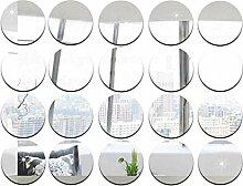 5cm Durchmesser runde Spiegel Aufkleber, DIY