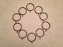(5 CR Gardinenringe, aus Schmiedeeisen, antikes