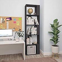 5 Etagen Bücherregal, Büroregal, Raumteiler,