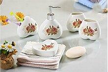 5 Europäischen Stil Badewanne kit Keramik Badezimmer Vanity Ki