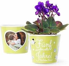 5 Hochzeitstag Geschenk Blumentopf (ø16cm) | 5