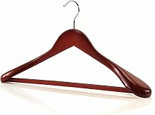 5 Holz Kleiderbügel mit breiten Schultern - Mahagonifarben - 45cm - Hangerworld