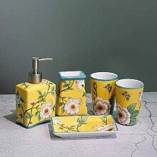 5 Keramikmuster Badzubehör Set Baddekoration
