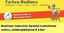 5 L Budimex Industrie Spezial Latexfarbe , weiss /