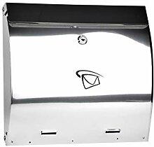 5 Liter bauchiger Edelstahl Briefkasten