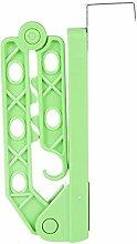 5Loch über Tür Kleiderbügel Creative Trocknen Rack faltbar zum Aufhängen Kleidung Haken Travel Coat Halterung grün