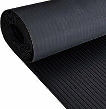 5m x 1,2m | schwarz breit geripptem Gummi