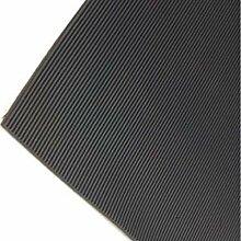 5m x 1,5m | schwarz fein gerippter Gummi