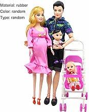 5 Menschen Puppen Anzug Schwangere Puppe Familie