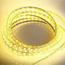 5 Meter 230V LED Streifen warm-weiß 5m Band