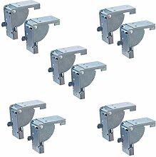 5 paar klappbeschlag tisch klappenbeschlag klappbar fr tischbeine und bnke stahl verzinkt - Klappkonsole Esstisch