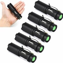 5 pack Tactical Taschenlampe, TopTen Fan-Motive