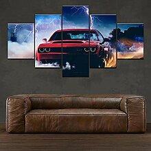 5 Panel HD-Druck Malerei Blinder Leinwand