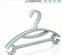 5 pcs/Los Baby Kunststoff Kleiderbügel für Anti clohtes's Familie Kind - Kompaktlader der Kleiderhaken Kind Kleidung Rack, Blau