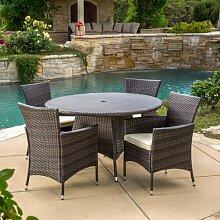 5-Sitzer Gartengarnitur Wendi mit Sitzkissen