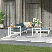 5-Sitzer Lounge-Set Angeles mit Polster