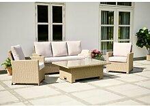 5-Sitzer Lounge-Set Chouchou aus Rattan mit Polster