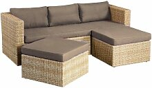 5-Sitzer Lounge-Set Otis aus Polyrattan mit Polster