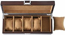 5-Slot-Uhrenbox European Watch Storage Box Holzuhr