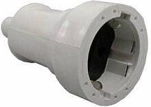 5 Stck Gummi-Stecker Kopplung IP44 Gummistecker Stecker mit Einsatz spritzwassergeschütz