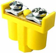 5 Stk. Doppelklemme Dosenklemmen Klemmen 2x1-4mm2 gelb-grün Kabelanschlüsse Klemme Verteilerdosenklemme 092-07 ViPlast 8165