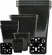 5-stk Profi-Pflanztopf viereckig 7x7x8-cm