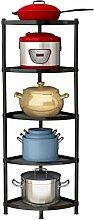 5-stöckiges Küchenregal aus Edelstahl, Eckregal