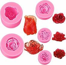 5 Stück Blumenform Fondant Form Rose Blume Kerze