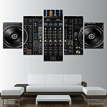 5 Stück Dj Techno MusicalWandkunst, Hd