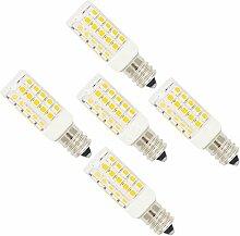 5 Stück E12 Fassung LED Lampe 5W, mit 44 SMD