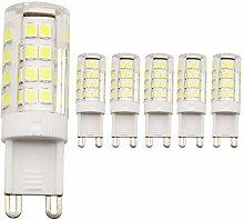 5 Stück G9 LED Lampe, Kein Flackern, (2.5W,
