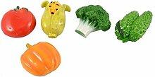 5 Stück Haushalt Kühlschrank Message Board Kunststoff Gemüse Design Magne