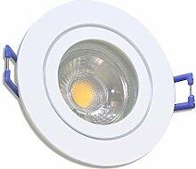 5 Stück IP44 MCOB LED Bad Einbauleuchte Aqua 230