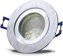 5 Stück IP44 SMD LED Bad Einbauleuchte Neptun 230