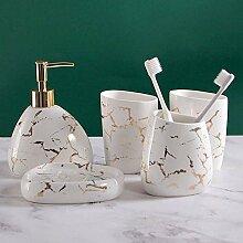 5 Stück Keramik Haushaltswaren Marmor