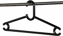 5 Stück Kesper Garderobenbügel, Jackenbügel, Kleiderbügel, aus Kunststoff, Breite: 460 mm, in schwarz