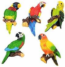 5 Stück Kühlschrank Kühlschrank Tafel Nachrichtenbrett Papagei Design Magne