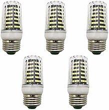 5 Stück LED Mais-Licht 9W E27 Kaltweiß 6000K