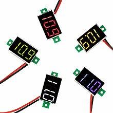5 Stück Mini Digital Voltmeter DC 2,4 V - 30 V