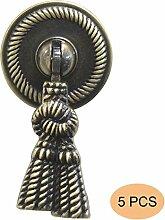 5 Stück Probrico Antike Bronze Türgriffe Möbelgriff Möbelknopf Ringgriff PSF373AB