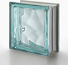5 Stück SEVES Glassteine Wolke Türkis 19x19x8 cm