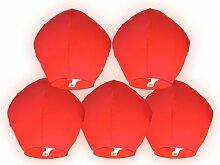 5 Stück Skylaternen - Skyballon 60x90cm ro