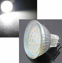 5 Stück | SMD LED Leuchtmittel | 12Volt | Sockel GU5.3 | ø 50mm | 5Watt | 420Lumen | 4000Kelvin | Neutralweiß | EEK A+