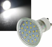 5 Stück | SMD LED Leuchtmittel | 230Volt | Sockel GU10 | 3Watt | 300Lumen | 4000Kelvin | Neutralweiß | ø 50mm | EEK A+