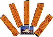 5 Stück Spaarpack Gebetsfahnen (Tibet) mit 10