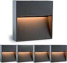 5 Stück SSC-LUXon® Treppenleuchte Aussen LED