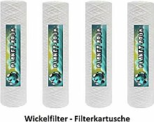 5 STÜCK Wasserfilter Kartusche 10 Zoll, Feinheit 100µm Micron Ersatzfilter Sedimentfilter aus Polyprophylen WICKELSCHNUR Filter Patrone für Osmoseanlage Umkehrosmose Osmose Filteranlage Filtergehäuse Trinkwasser Brunnen Wasser Vorfilter Einheit Aquarium